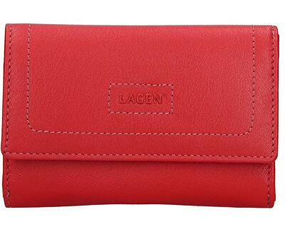 Portafoglio da donna in pelle 4153 Red