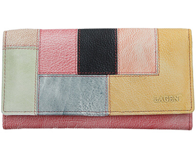 Dámska kožená peňaženka V-17/D Lipstick/Multi