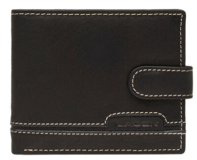 Pánská černá kožená peněženka Black 2004-3