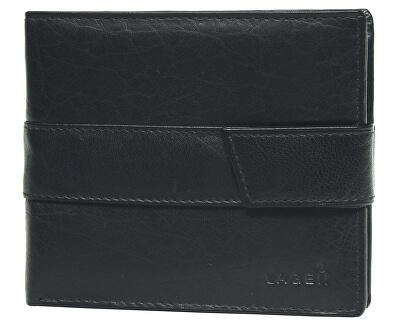 Lagen Férfi fekete bőr pénztárca fekete V-03  68ad657e31