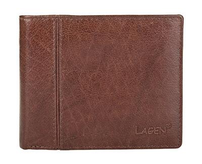 Pánská hnědá kožená peněženka Brown PW-521-2