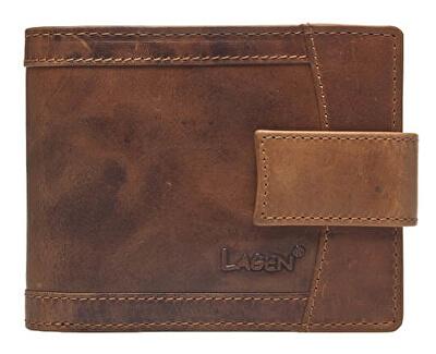 Pánska hnedá kožená peňaženka Brown V-06 / V