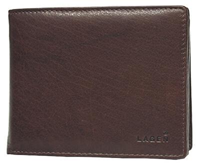 Pánská hnědá kožená peněženka Brown V-3