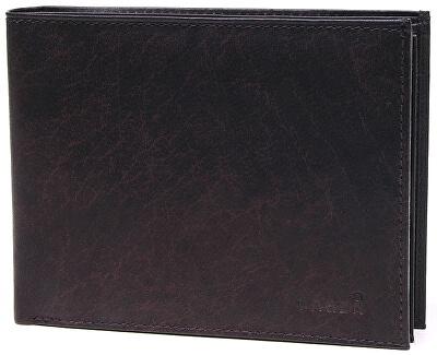 Férfi sötétbarna bőr pénztárca V-75