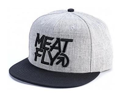 Meatfly Kšiltovka Motion Snapback A-Grey Heather, Black