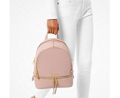 Rucsac din piele pentru femei Rhea Zip Soft 30S0GEZB2L187 Soft Pink