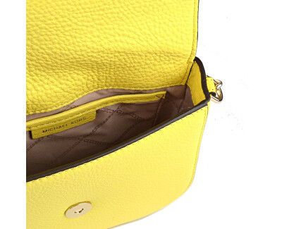Elegantní crossbody kabelka Mott Pebbled Leather Dome Crossbody Bag Yellow