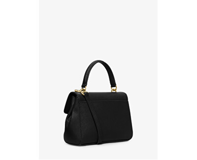 Elegant Ava Extra-Small Saffiano Leather Crossbody Bag Black