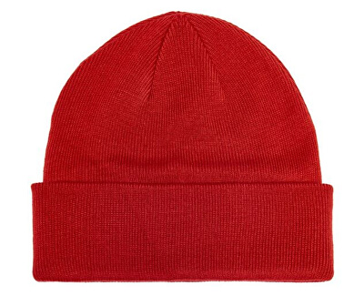Pánska čiapka ONSEVAN BADGE KNIT BEANIE Pompei an Red