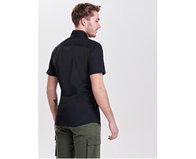 Pánska košeľa Alfredo SS Shirt Noos Black