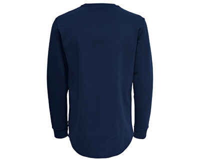 Férfi kapucnis pulóver Matt Long y Curved Sweat Dress Blue s
