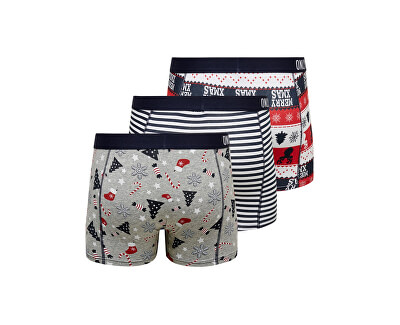Pánske boxerky ONSNOEL TRUNK 3 PACK Blue Night s
