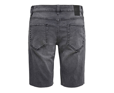 Herrenshorts ONSPLY REG LIFE RAW HEM GREY PK 5274 Grey Denim