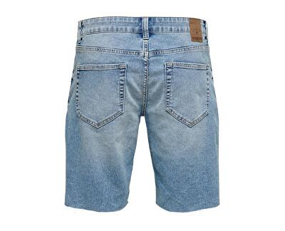 Herren Shorts ONSPLY REG RAW HEM SCHWARZ PK 5275 Blue Denim