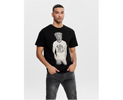 Pánske tričko Enzo Funny Ss Tee Black