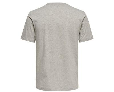 Shirt pentru bărbați ONSBURNEY SS FUNNY TEE Light Grey Melange