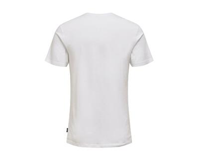 Herren T-Shirt ONSCALM SLIM SS TEE White