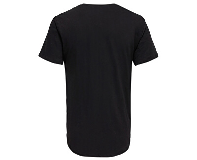 Pánske tričko Punk Loose Longy Ss Tee Black