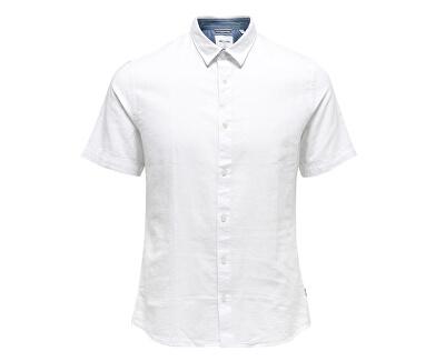 Pánska košeľa Caiden SS Linen Shirt Re White