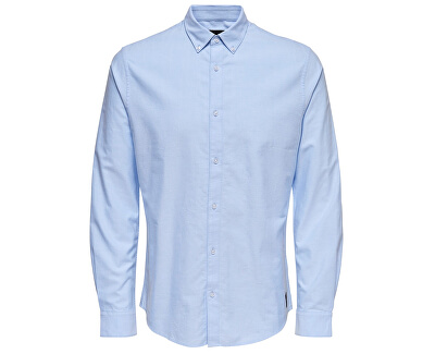 Pánská košile ONSOXFORD SOLID LS VD Cashmere Blue