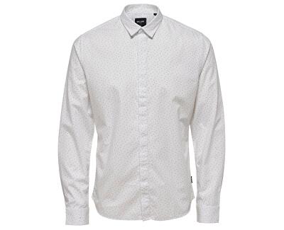 3a592478b5bd ONLY SONS Pánska košeľa Otto Ls Ditsy Aop Shirt White - ZĽAVA až 10 ...