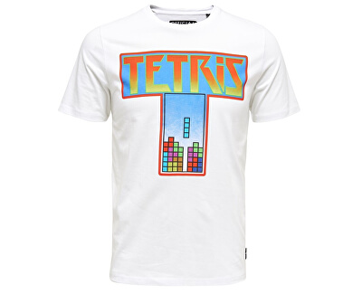 Férfi Luke Tetris Fitting Ss White póló