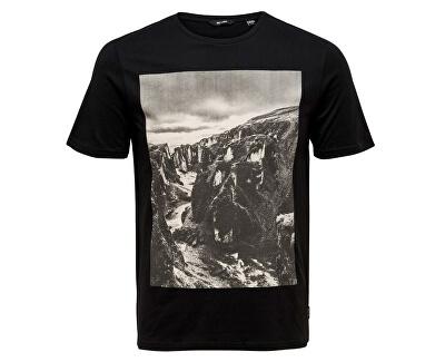 Pánske tričko ONSBROCK PhotoPrint TEE Black