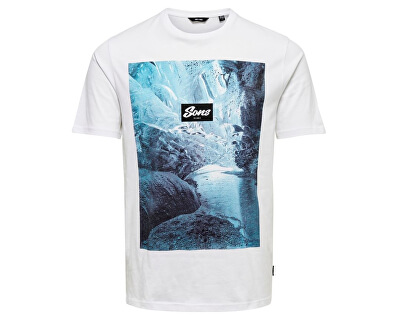 Pánske tričko ONSBROCK PhotoPrint TEE White