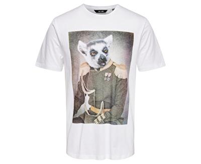 Tricou pentru bărbați ONSBURNEY SS FUNNY TEE White