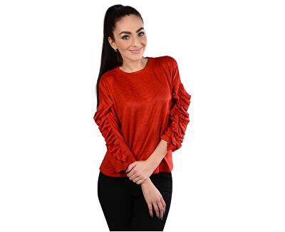 Doamnelor pulover  Ida Spring 3/4 Ruffle Pullover Knt Flame Scarlet