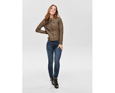 Dámska bunda Flora Faux Leather Jacket Cc Otw Cognac
