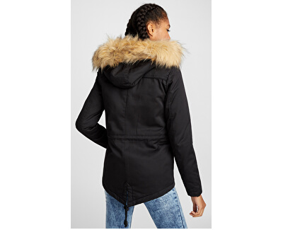 Dámska bunda ONLNEW KATE CANVAS PARKA OTW Black