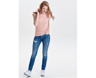 Dámske tričko ONLNICOLE S / S MIX TOP Noosa Mist y Rose