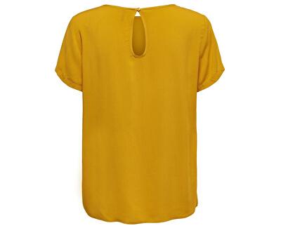 Bluza pentru femei ONLFIRST SS TOP NOOS WVN Golden Yellow