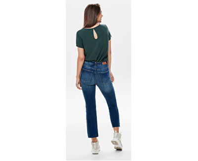 Bluza pentru femei ONLFIRST SS TOP NOOS WVN Green Gables