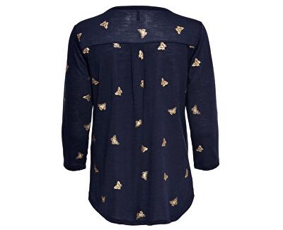 Dámska blúzka ONLISABELLA 3/4 PLACKET TOP BOX JRS Night Sky Butterflies
