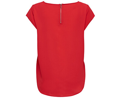 Dámska blúzka ONLVIC S / S SOLID TOP Noosa WVN High Risk Red