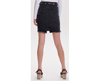 Dámska sukňa Lelila Reg Rawedge DNM Skirt 09Noos Medium Grey Denim
