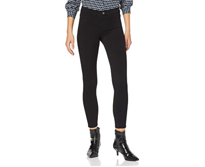 Pantaloni pentru femei ONLBRIXTON MID SLIM LEGGING PNT Black
