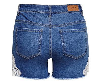 Dámske kraťasy Carmen New Lace Shorts Medium Blue Denim