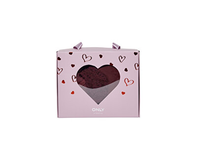 Női pizsama ONLVALENTINE NIGHT SET Keepsake Lilac