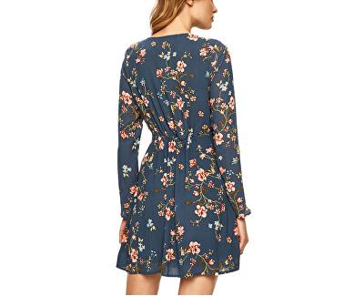 Damenkleid Dark Denim Blumen