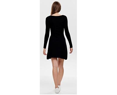 Dámske šaty ONLIZA L / S DRESS KNT Black