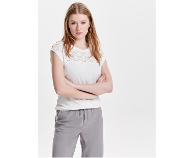Dámske tričko Nicole S/S Mix Top Jrs Cloud Dancer