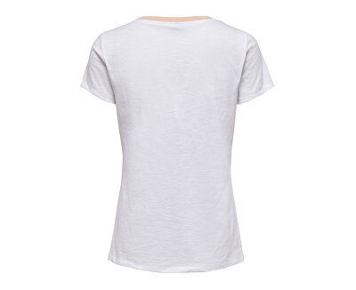 Dámske tričko ONLBONE LIFE FIT S / S LINE TOP BOX JRS Bright White SHIP