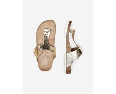 Frauen Flip Flops  ONLMATHILDA Gold