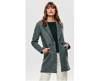 Dámsky kabát ONLALLY BOUCLE WOOL COAT CC OTW Balsam Green