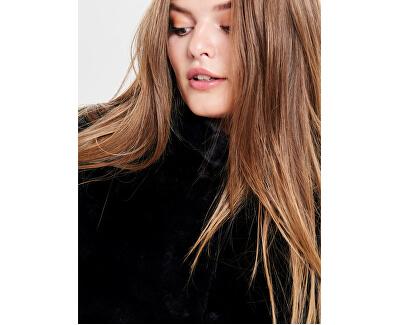Dámský kabát ONLVIDA FAUX FUR COAT OTW Black