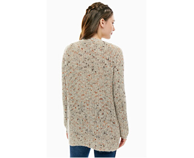 Dámsky kardigan Hanni L/S Long Cardigan Knt Light Grey Melange