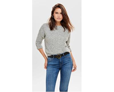 Dámsky sveter ONLCHUNKY L / S Pullover KNT Light Grey Melange